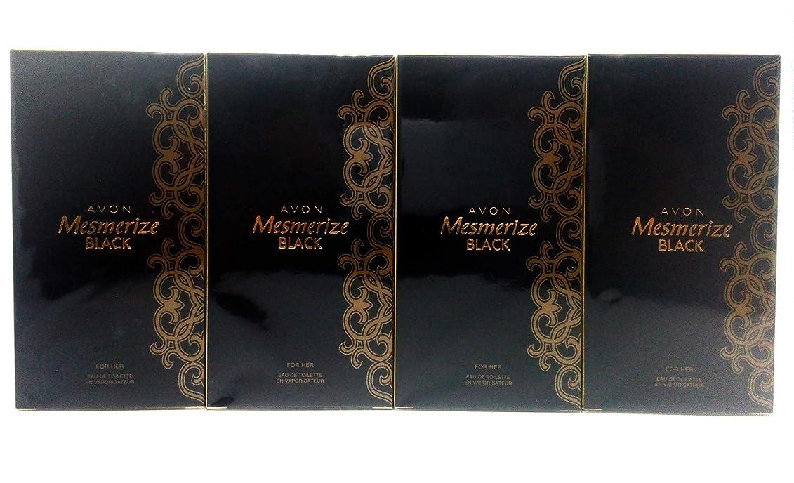 保険寓話命令的4 x AVON Mesmerize Black For Her Eau de Toilette 50ml Set