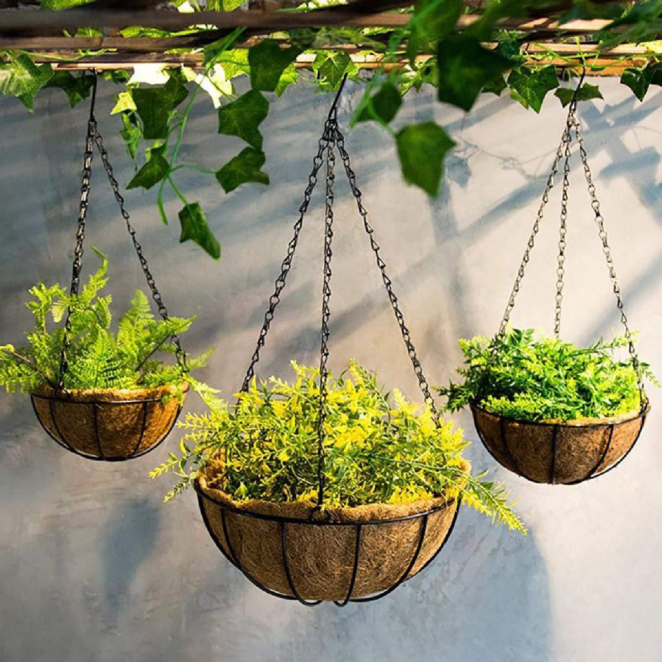 Bluelliant 2 x Macetas Colgantes Jardín Balcon Canastras Decorativas para Plantas Naturales De Pared Exterior Interior Vintage: Amazon.es: Jardín