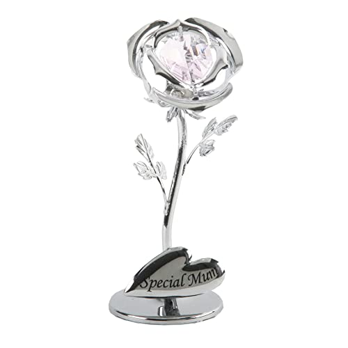 Special Mum Flower with swarovski crystal elements - Crystocraft Celebration Rose SP351