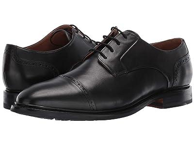 Bostonian Bridgeport Cap (Black Leather) Men