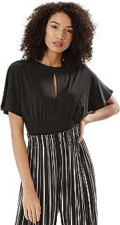 Koovs Black High Neck Bodysuit For Women