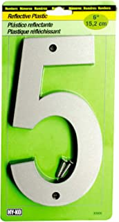 6 In Reflective Plastic Number 5