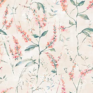 RoomMates Coral Floral Sprig Peel and Stick Wallpaper