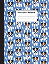 Composition Notebook: Cute Jack Russell Terrier Puppy Notebook: For Kids, Boys, Girls, Elementary School, College, Journal, Gifts: Wide Ruled 110 Pages