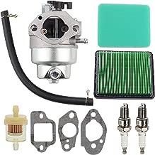 Wellsking Carburetor Carb for Honda GCV160 GCV160A GCV160LE GCV160lao Carb Engine HRB216 HRR216 HRS216 HRT216 HRZ216 Lawn Mower Rep 16100-Z0L-023 with Air Filter