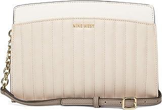 حقيبة يد واسعة من ناين ويست بتصميم مخطط متعددة الألوان