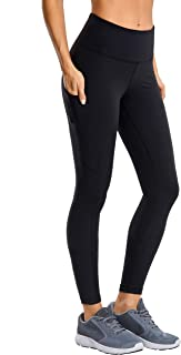 CRZ YOGA Women's Matte Brushed Light-Fleece Yoga Pants with Pocket Squat Proof Workout Leggings-28 inches