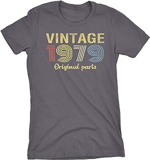 a3d639059fa 40th Birthday Gift Womens T-Shirt - Retro Birthday - Vintage 1979 Original  Parts