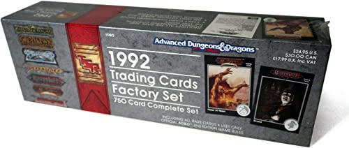 1992 Fantasy Collector voitureds  Trading voitureds Factory Set  750 voitured Complete Set (Advanced Dungeons & Dragons), AD&D 2nd Edition