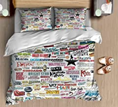 Wocatton Duvet Cover Set Musicals Cotton Ultra Soft Beautiful Pattern Vivid Colors Colorfast Blanket Cover Home Decoration Festival Gift - Full/Queen