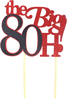 All About Details The Big 8OH! Cake Topper, 1pc, 80th Birthday Cake Topper, 80th Birthday Decoration Multi CATTB8O