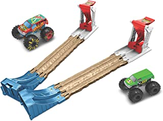 Hot Wheels Monster Trucks Double Destruction 3-in-1 Play Set for Kids 4 to 8 Years Old GYC80