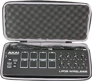 co2CREA Hard Case for Akai Professional LPD8 Ultra-Portable USB Drum Pad MIDI Controller (Hard Case for Wireless Controller)