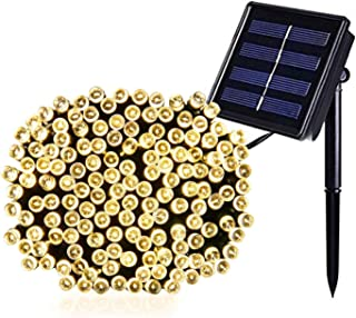 JMEXSUSS Solar String Light 200LED 75.5ft 8 Modes Solar Christmas Lights Waterproof Outdoor Fairy String Lights for Gardens, Homes, Wedding, Party, Christmas Tree, Curtains, Outdoors Warm White