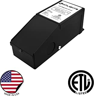 HitLights 40 Watt Dimmable Driver, Magnetic LED Driver, 110V AC - 24V DC Transformer. Made in the USA. Compatible with Lutron and Leviton for LED Strip Lights, Constant Voltage LED Products