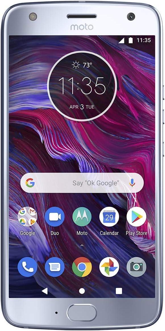 """Motorola Moto X4 Factory Unlocked Phone - 64GB - 5.2"""" - Sterling Blue (U.S Warranty)"""