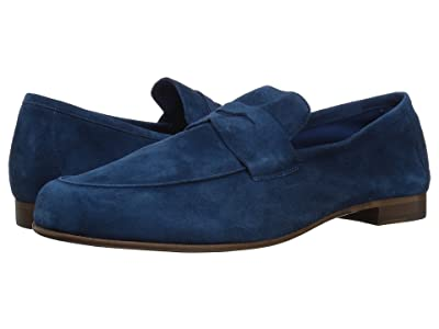 Massimo Matteo Suede Penny Loafer (Electric Blue Suede) Men
