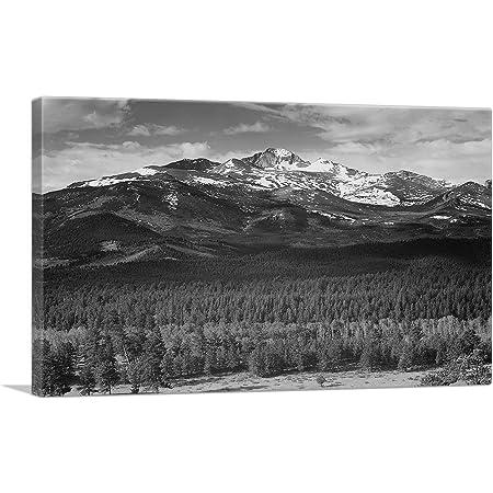 Longs Peak Print Colorado Modern Wall Art Illustration Mountain D\u00e9cor