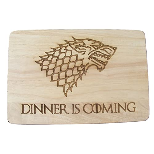 c603f2d4 GAME OF THRONES GIFT IDEA GOT HARDWOOD CHOPPING CUTTING CHEESE BOARD PLACE  MAT DINNER IS COMING