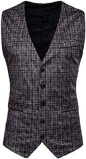 MU2M Men Single Breasted V-Neck Outwear Club Formal Dress Separate Waistcoat