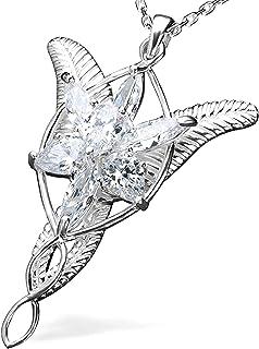 قلادة مجوهرات متدلية Arwen Evenstar من Lord of The Rings (925 فضة استرلينية مرصعة بـ 5A مكعب - زركونيا)