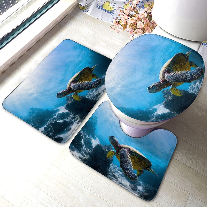 Sea Turtle Floor Mat Set 3-Piece Non-Slip Washable 35% OFF Bathroom Bombing new work