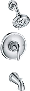 Moen 82115 Idora Posi-Temp Tub and Shower with Valve Included, Chrome
