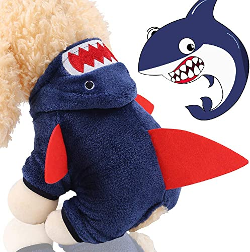 high quality OPTIMISTIC Dog Clothing for Small outlet online sale Dogs, Pet Cosplay Dress, Adorable Shark Pet Costume, Funny Dog Cat Clothes, Fleece Hoodie popular Dog Sweater Pet Coat Jacket for Small Dogs & Puppies online