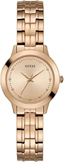 GUESS - W0989L3 - WATCH FOR LADIES ROSE GOLD WITH PLAIN STAINLESS STEEL