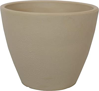 Sunnydaze Catherine Outdoor/Indoor Planter Pot, Heavy-Duty Double-Walled Polyresin with UV-Resistant Antique White Finish, Single, 16-Inch