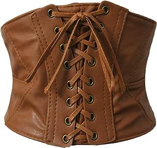 brown underbust corset