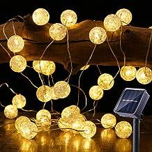BrizLabs Solar String Lights, 50 LED 22.73ft Solar Globe String Lights Outdoor, 8 Modes Waterproof Solar Twinkle Lights wi...
