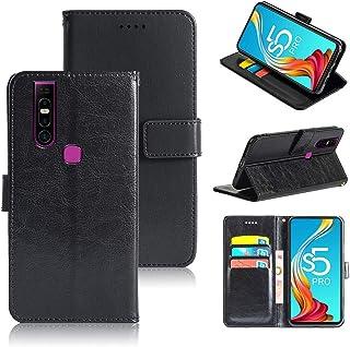 جراب هاتف Infinix S5 Pro Crazy Horse Texture حامل بطاقة عمل ميزة غطاء هاتف