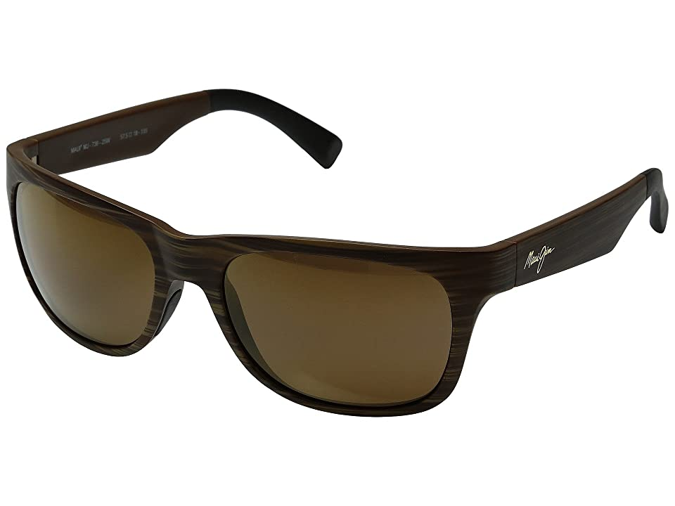 Maui Jim Kahi (Matte Brown Woodgrain/HCL Bronze) Fashion Sunglasses
