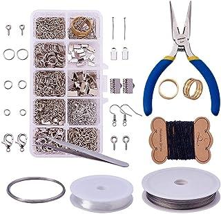LEAMALLS 10 Trous Bijoux Fabrication Kit Faisant Perles Perlage Réparation Outils Colliers Boucles d'oreilles Bracelets Fa...