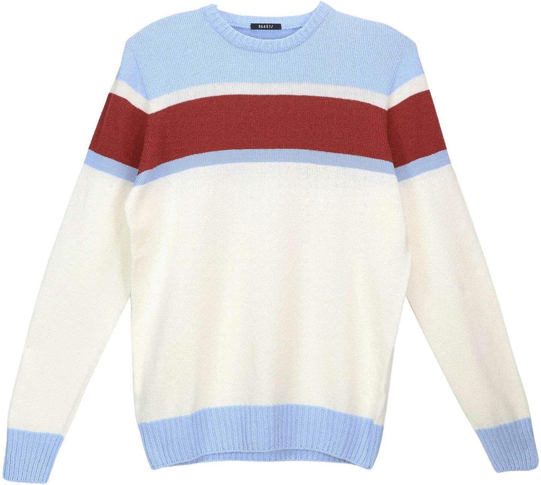 04651/ Men's Boucle Crew Stripe Pullover