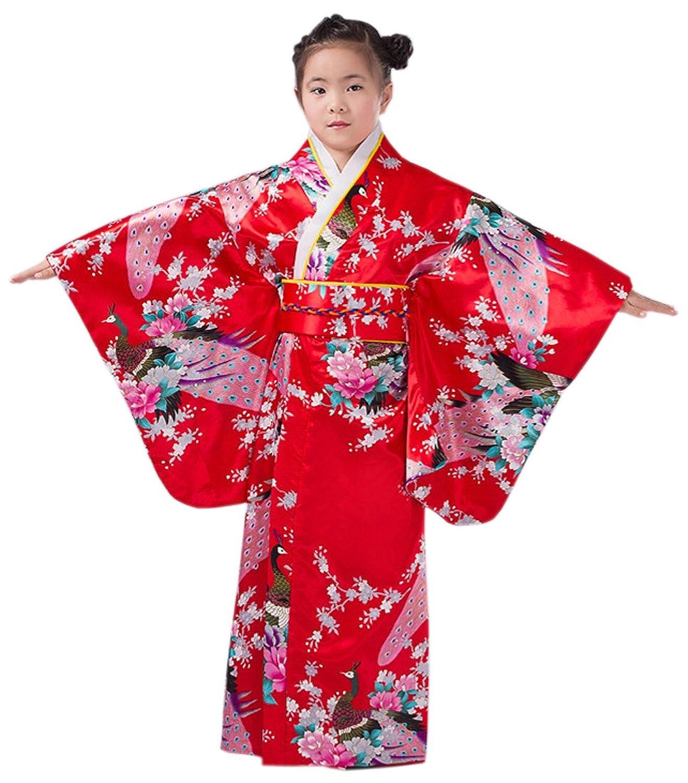 XueXian(TM) 女の子 ガールズ 着物 オシャレ 和服 浴衣 茶道 結婚式 お祭り 七五三