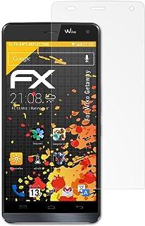 atFoliX Skärmskydd är kompatibel med Wiko Getaway Skyddsfilm, antireflekterande och stötdämpande FX Film (3X)