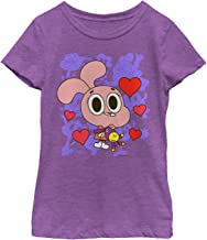 Fifth Sun The Amazing World of Gumball Girls' Anais Hearts T-Shirt
