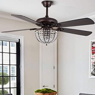 52-inch Ceiling Fan Light Fixture Chandelier Bronze with...