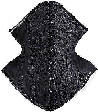 SHAPERX Women Curvy Waist Heavy Duty Double Steel Boned Waist Trainer Corsets