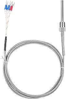 Waterproof RTD PT100 Temperature Sensor - Jaybva Stainless Steel 3 Wire Thermistor Probe for PID Temperature Controller NPT 1/4