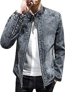 Springrain Mens Stand Collar Color Block Quarter Zip Knit Pullover Sweater