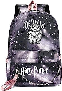 Mochila de Ocio para Estudiantes de Hogwarts, Mochila Harry Potter Grey Starry Sky, con Mochila de Interfaz de Carga USB style-11