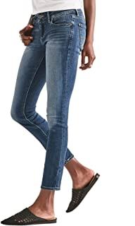 Lucky Brand Women's Lolita Mid Rise Curvy Fit Skinny Jeans Lake Bridgeport Blue Wash