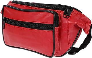 Christian Wippermann Bauchtasche Hüfttasche aus butterweichem Leder Rot