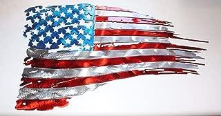 tattered flag metal