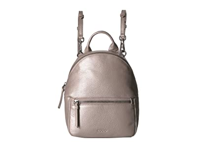 ECCO SP 3 Mini Backpack (Grey Rose Metallic) Backpack Bags