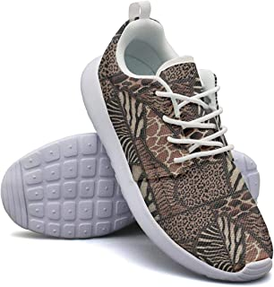 Leopard Cheetah Print Shallow Stitching Black Gray Casual Shoes for Womens Cool Wear-Resistant Running Shoes Girls