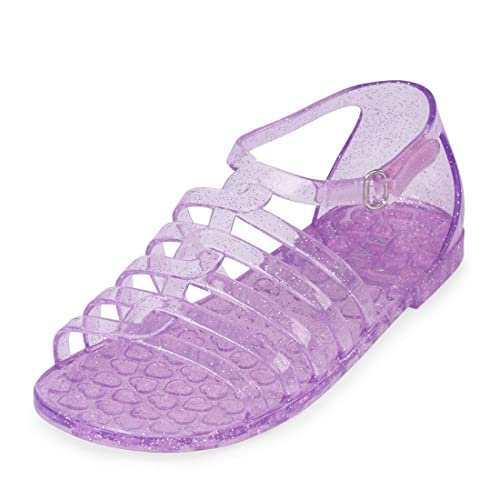 Purple Size 4 Youth Girls  Casual Jelly Shoe